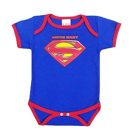 Body Bebê Super Baby Manga Curta