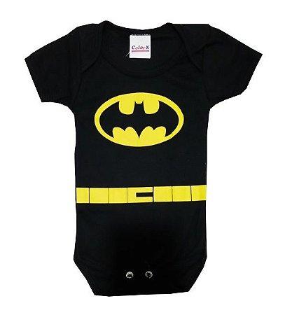 Body Bebê Batman Manga Curta