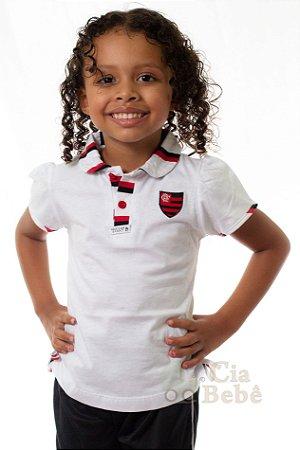 Camisa Polo Infantil Flamengo Feminina Oficial