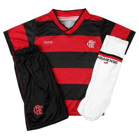 Conjunto Infantil Flamengo Uniforme Dry Oficial