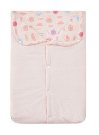 Porta Bebê Acolchoado Nuvem Rosa 57 x 35Cm Papi
