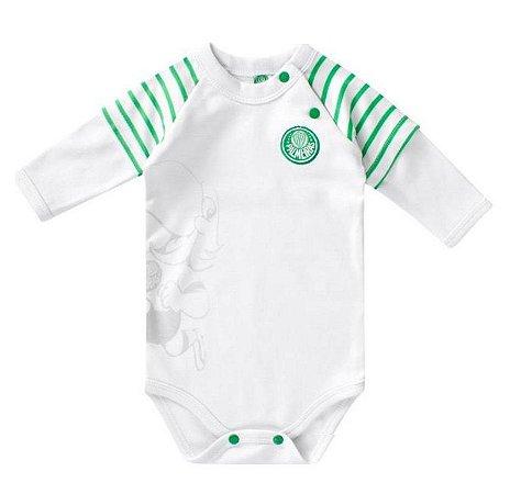 Body Bebê Palmeiras Manga Longa Oficial