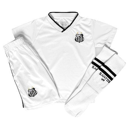 Conjunto Infantil Santos Uniforme Dry Oficial