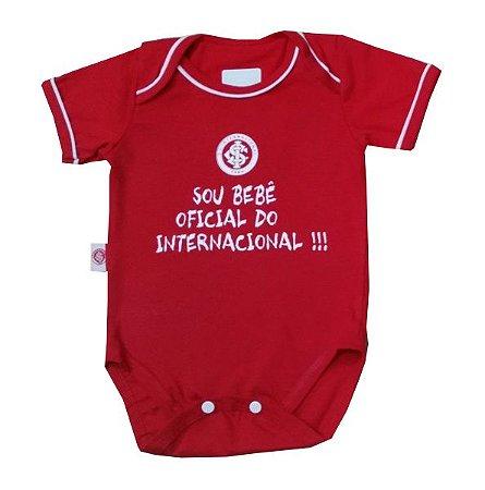"""Body Internacional """"Bebê Oficial"""" Vermelho Revedor"""