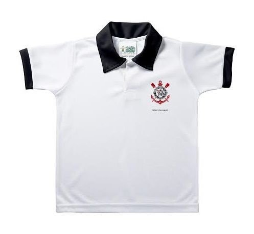 Camisa Polo Infantil Corinthians Torcida Baby