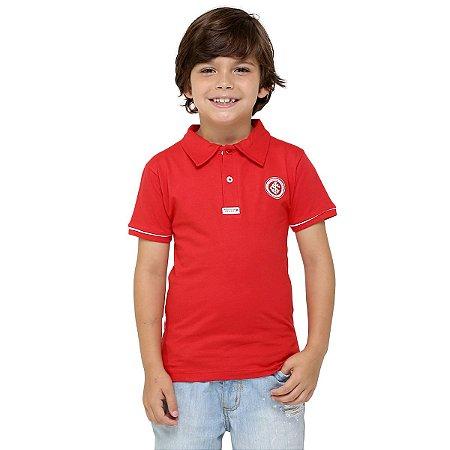 Camisa Polo Infantil Internacional Vermelha Oficial