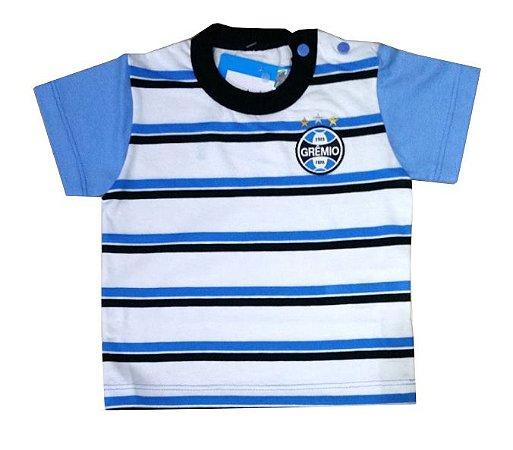 Camisa Bebê Listras Grêmio Oficial