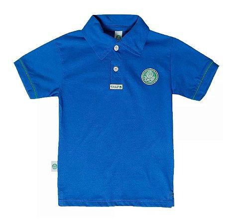 d9868bcc3d Polo Infantil Palmeiras Azul Oficial - Cia Bebê