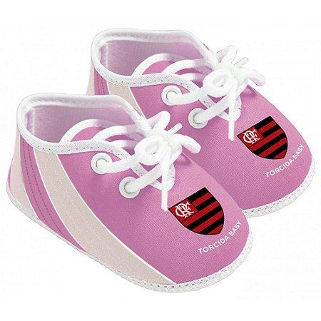 Chuteira Bebê Flamengo Rosa Torcida Baby
