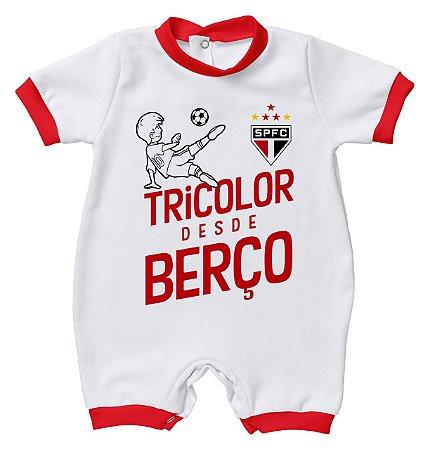 Macacão São Paulo Tricolor Desde Berço - Torcida Baby
