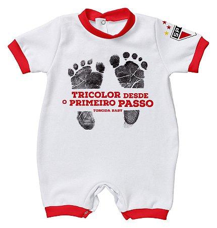Macacão Bebê São Paulo Primeiro Passo - Torcida Baby