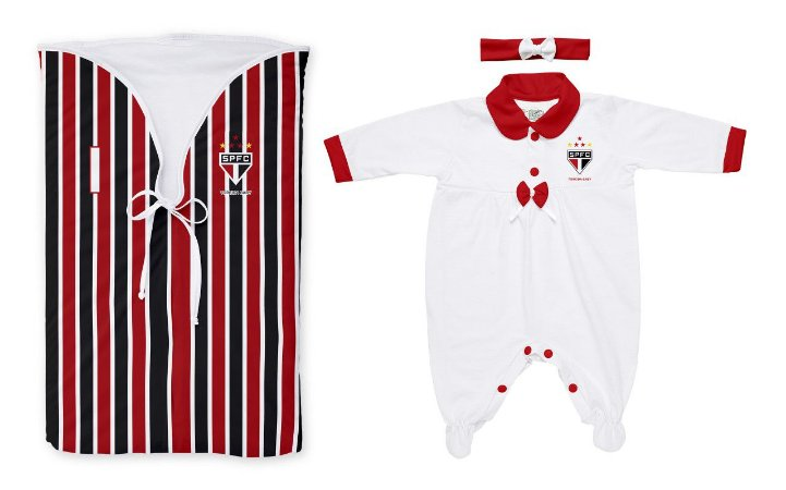 Kit São Paulo Saída Maternidade Meninas - Torcida Baby
