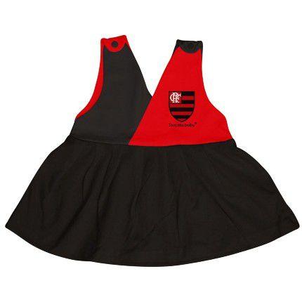 Vestido Bebê Flamengo Decote V - Torcida Baby