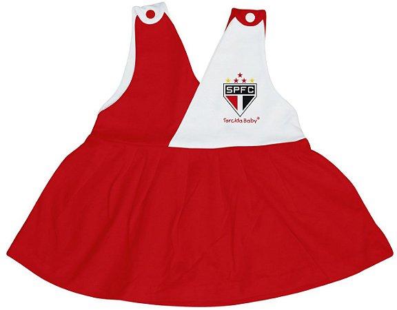 Vestido Bebê São Paulo Decote V - Torcida Baby