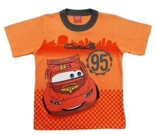 Camiseta Infantil Tip Top Carros Relâmpago Laranja