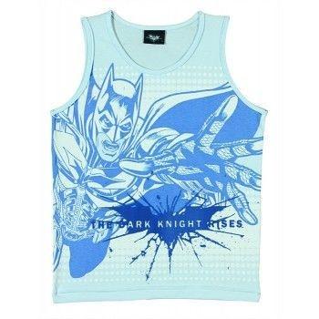 Camiseta Infantil Tip Top Regata Batman  Branca ou Azul