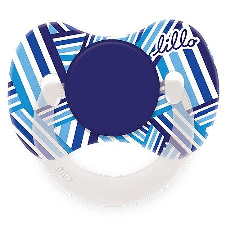 Chupeta Lillo Funny Estampas Azul Tam 2