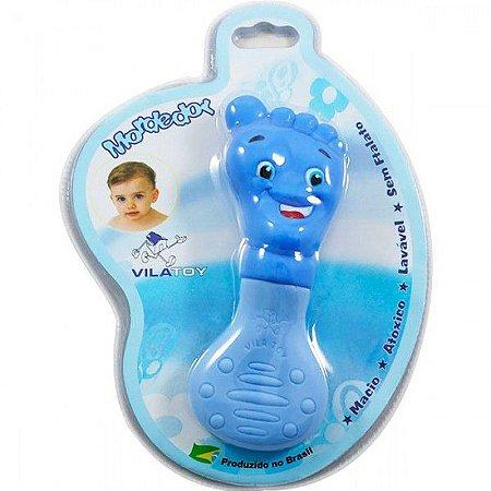 Mordedor Bebê Vila Toy Pezinho Azul