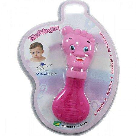 Mordedor Bebê Vila Toy Pezinho Rosa