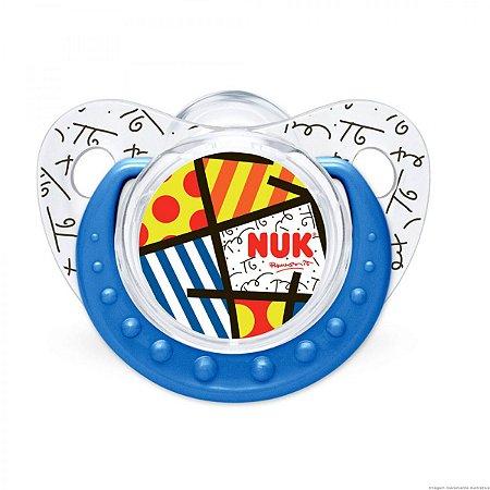 Chupeta NUK  Britto Trend Adore Azul Tam 2