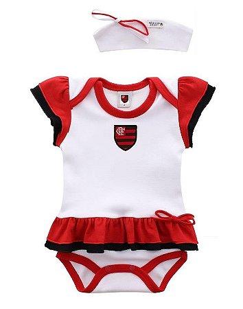 Body Vestido e Tiara Flamengo Revedor