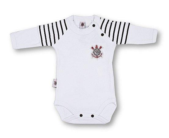 Body Corinthians Manga Longa Oficial - Cia Bebê  7e1c831d17a63