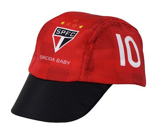 Boné Bebê São Paulo Poliéster Torcida Baby