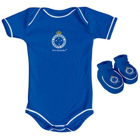 Body e Pantufa Cruzeiro Azul Torcida Baby