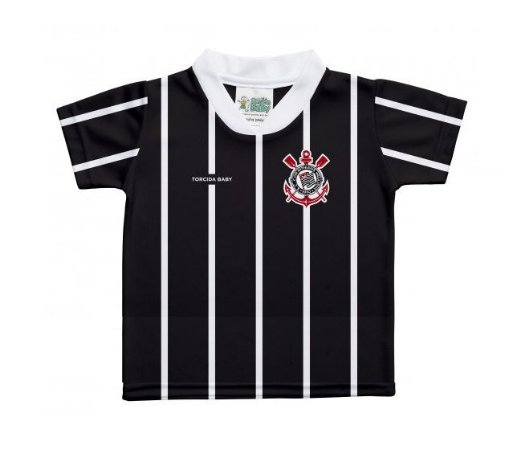 Camiseta Infantil Corinthians Preta - Torcida Baby