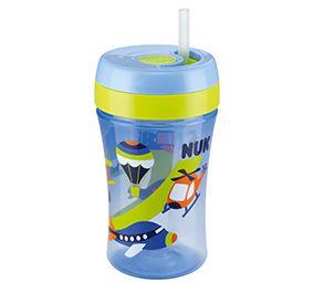 Copo com Canudo Nuk Fun Azul 300 ml