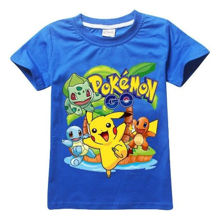 Camiseta Infantil Pokemon Azul