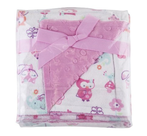 Manta Fleece Dupla Face Colorê Rosa 82x82 cm - Lepper