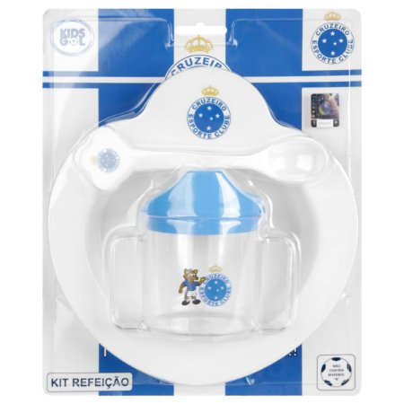 Kit Refeição Bebê do Cruzeiro 4 Pçs Kids Gol