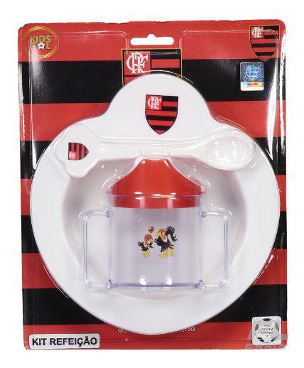 Kit Refeição Bebê do Flamengo 4 Pçs Kids Gol