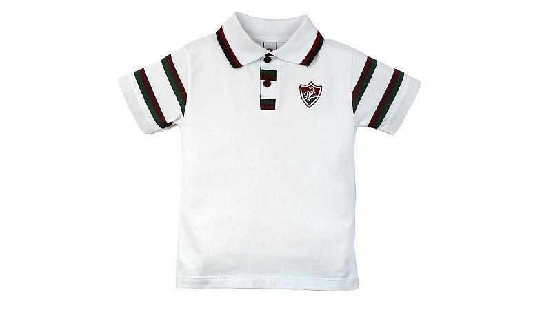 Camisa Polo Infantil Fluminense MO Oficial