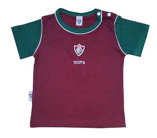 Camiseta Bebê Fluminense Bicolor Oficial