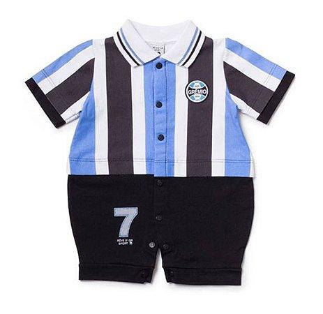 Macacão Bebê Grêmio Uniforme Campo Oficial