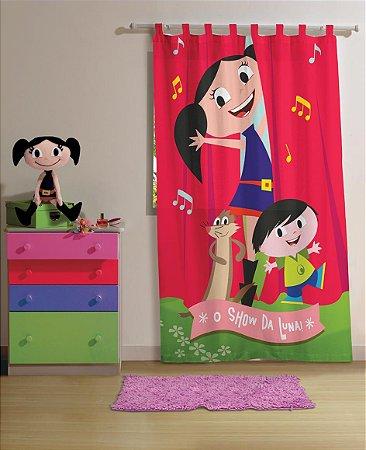 Cortina Infantil Show da Luna 1 peça 1,50 x 2,20 - Lepper