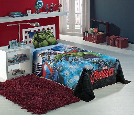 Jogo de Cama Infantil Avengers com 3 Pçs - Lepper
