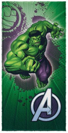 Toalha Infantil Avengers Hulk 60 cm x 1,20 m - Lepper
