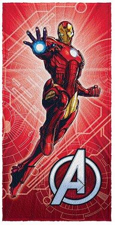 Toalha Infantil Avengers Homem de Ferro 60 cm x 1,20 m - Lepper