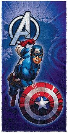 Toalha Infantil Avengers Capitão América 60 cm x 1,20 m - Lepper