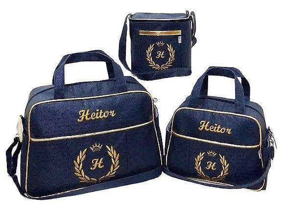 b89498c19 Kit Bolsas Maternidade Personalizadas Rei - Cia Bebê | Produtos Infantis