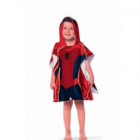 Toalha Poncho infantil com Capuz Avengers Spider Man Lepper