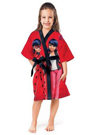 Roupão Infantil Aveludado Ladybug Lepper