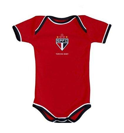 Body São Paulo Oficial Vermelho - Torcida Baby