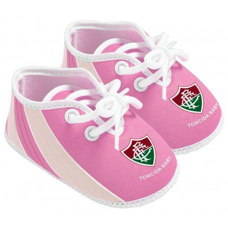 Chuteira Bebê Fluminense Rosa - Torcida Baby