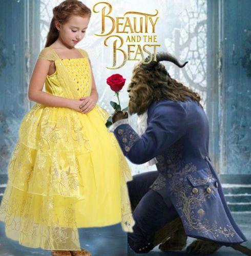 Vestido Fantasia Infantil Princesa Bela Luxo