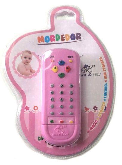 Mordedor Controle Remoto Rosa - Vila Toy