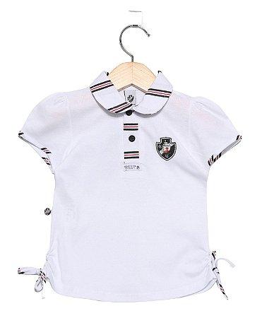 Camisa Polo Infantil Vasco Feminina Oficial